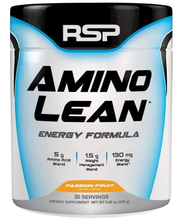 This image is RSP's Amino Lean supplement to help produce more energy for women