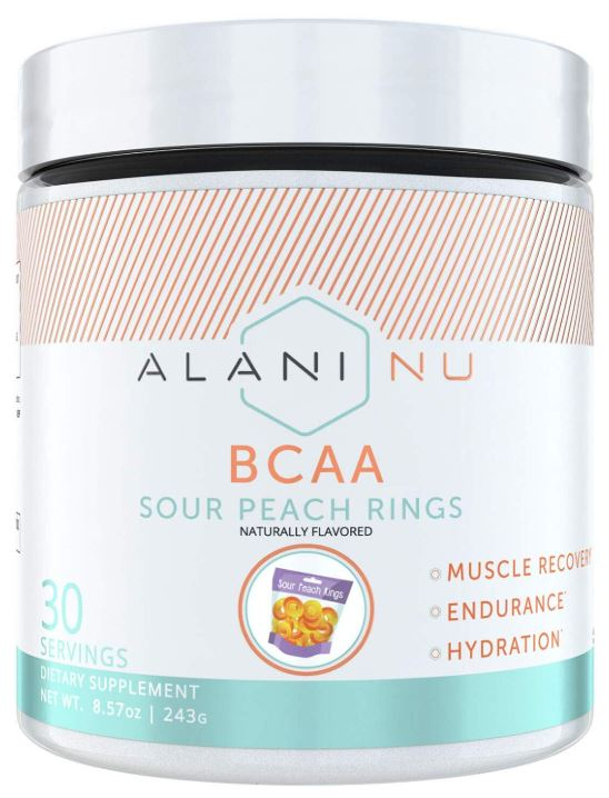 this is a picture of ALANI NU's bcaa supplement that helps muscle recovery, endurance, and hydration.