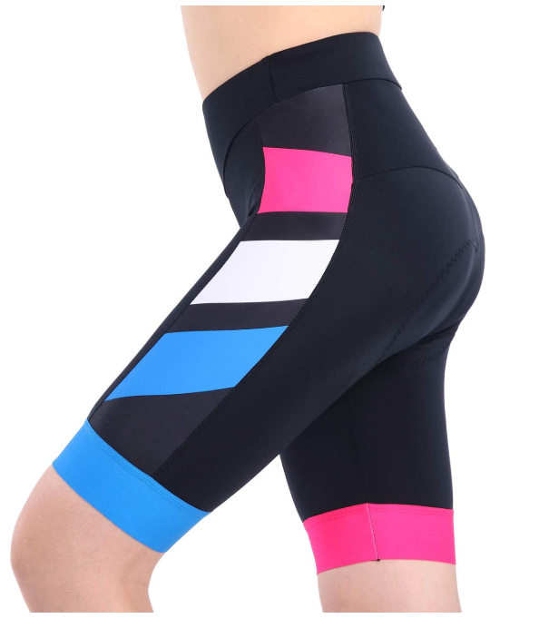 this picture shows workout cycling shorts