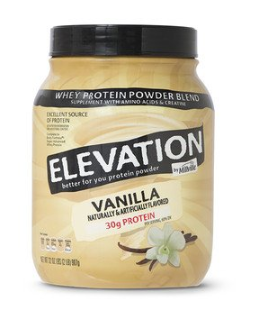 this image shows protein powder by Aldi's