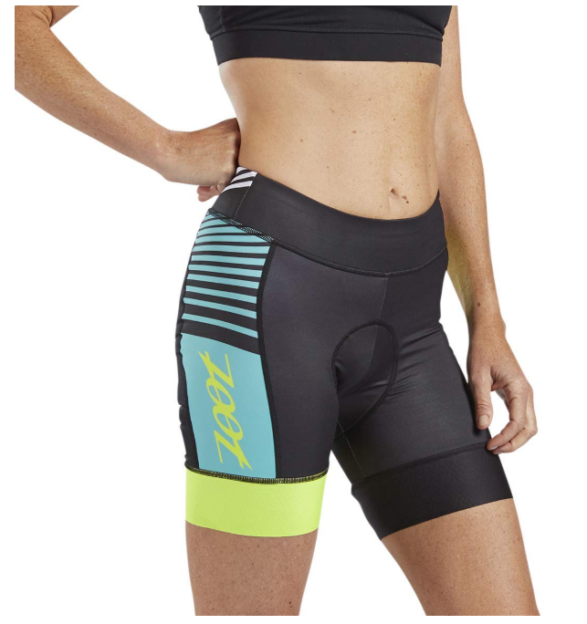 This image shows long distance bike shorts for women