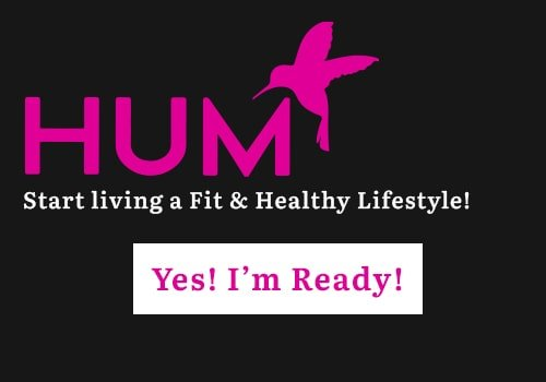 this is an image of HUM Nutrition's Logo and a message to women to start their healthy lifestyle
