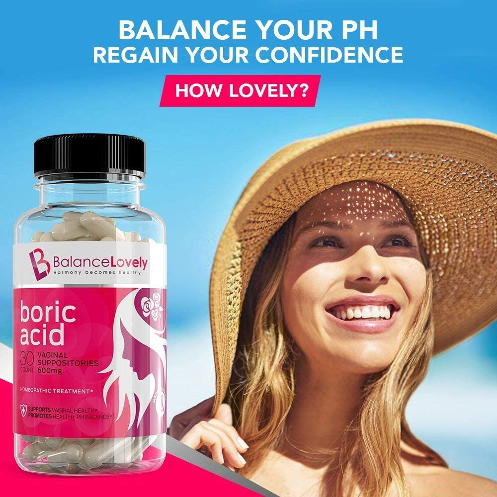 this is an image of the brand balance lovely best boric acid capsules