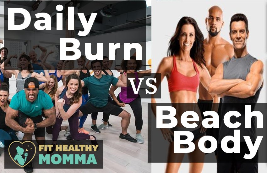 The featured image for dailyburn vs. beachbody review - who will win - by Fit Healthy Momma