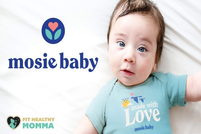 a picture of a little cute baby from using mosie baby products!