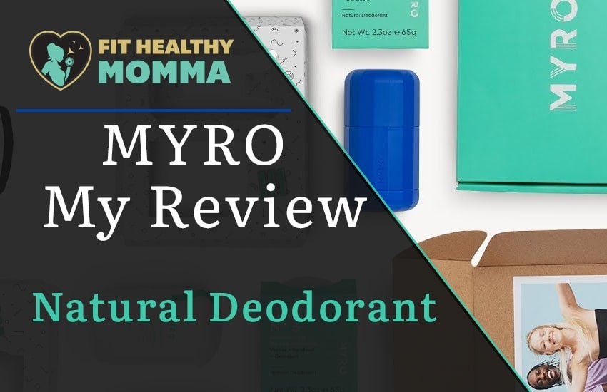 this is our featured image for the natural deodorant review of Myro