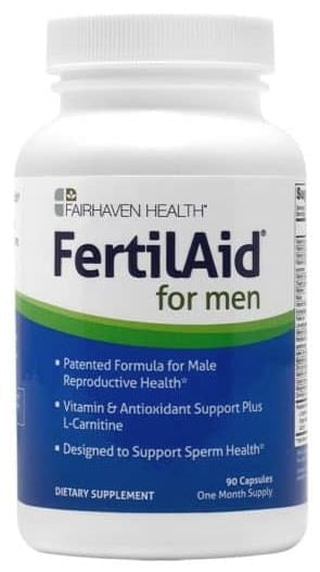a picture of FertilAid for Men by FairHaven Health reviews