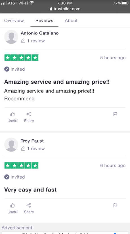 satisfied customer reviewing callondoc
