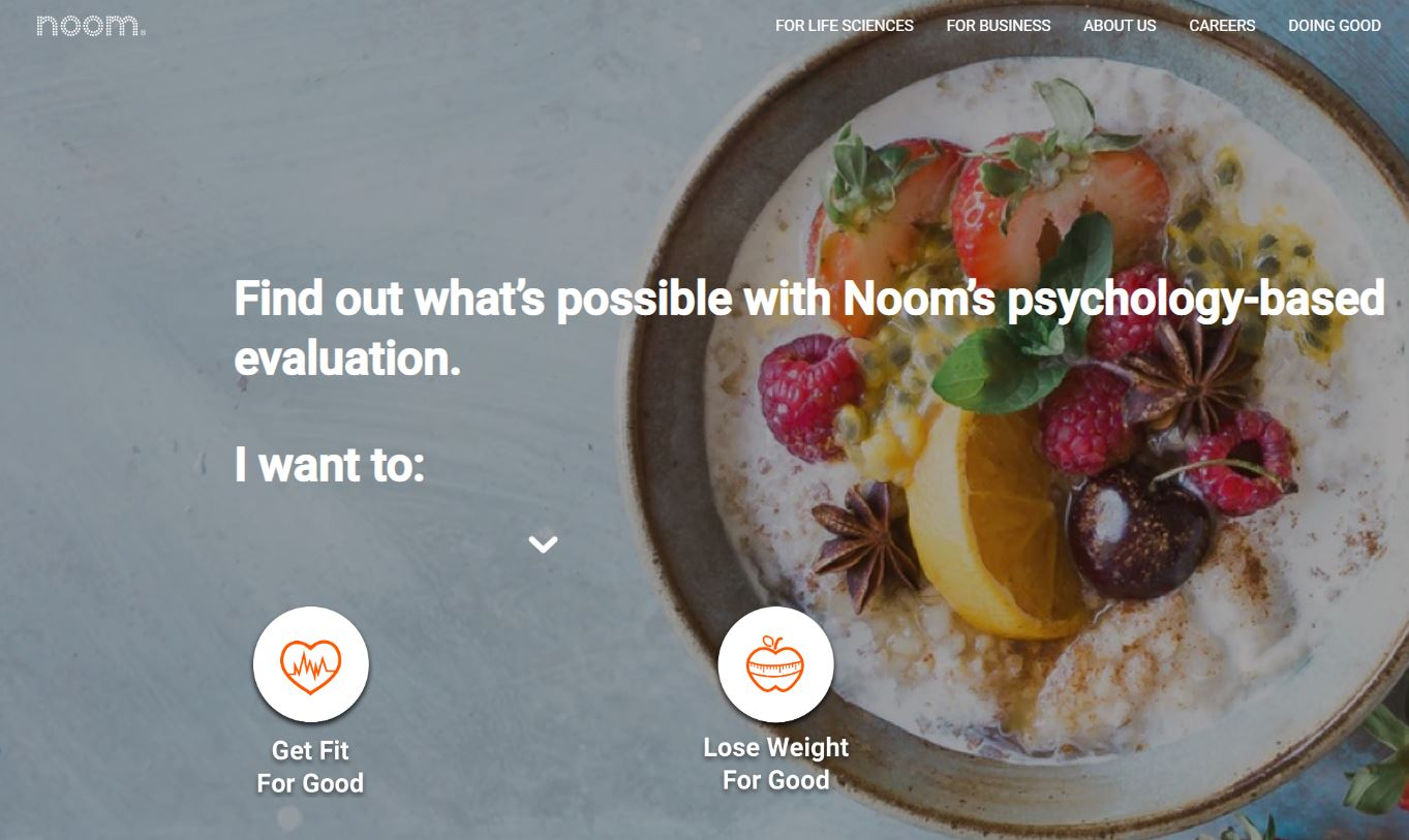 an image of the noom website