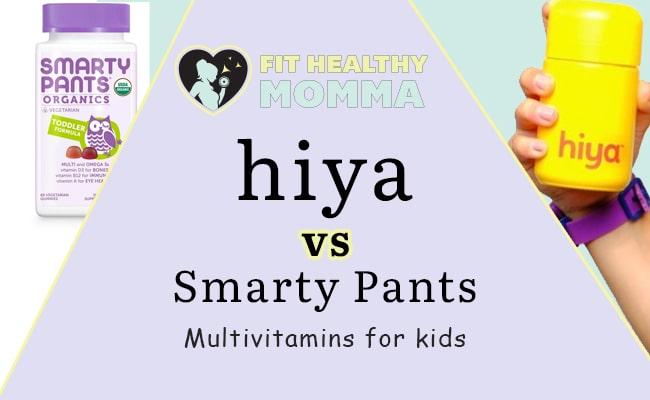comparison article featured image - smarty pants vs hiya health vitamins