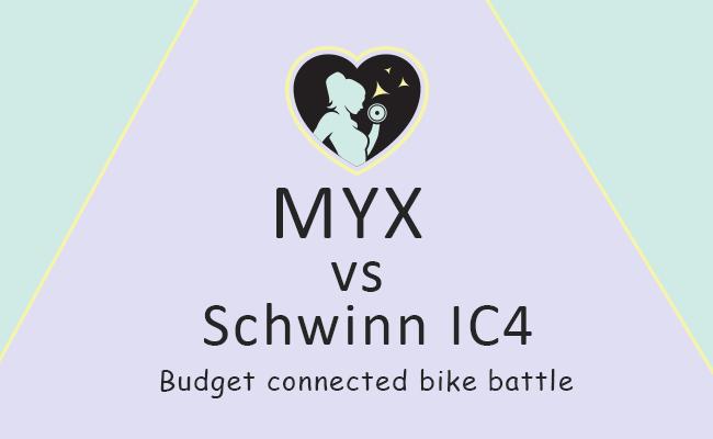 main image comparing myx fitness bike vs schwinn ic4
