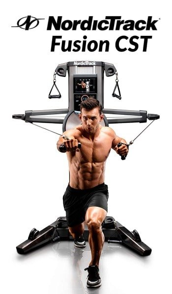 Fit man works out with Fusion CST home gym