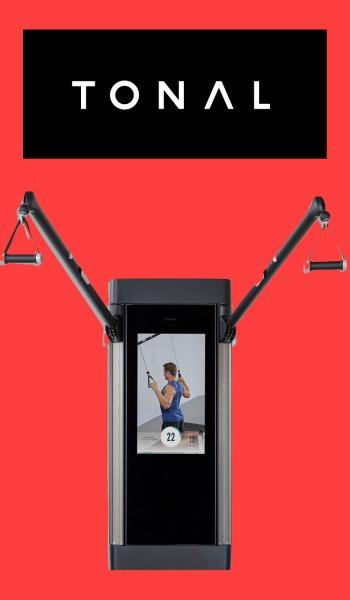 Tonal smart home gym with logo