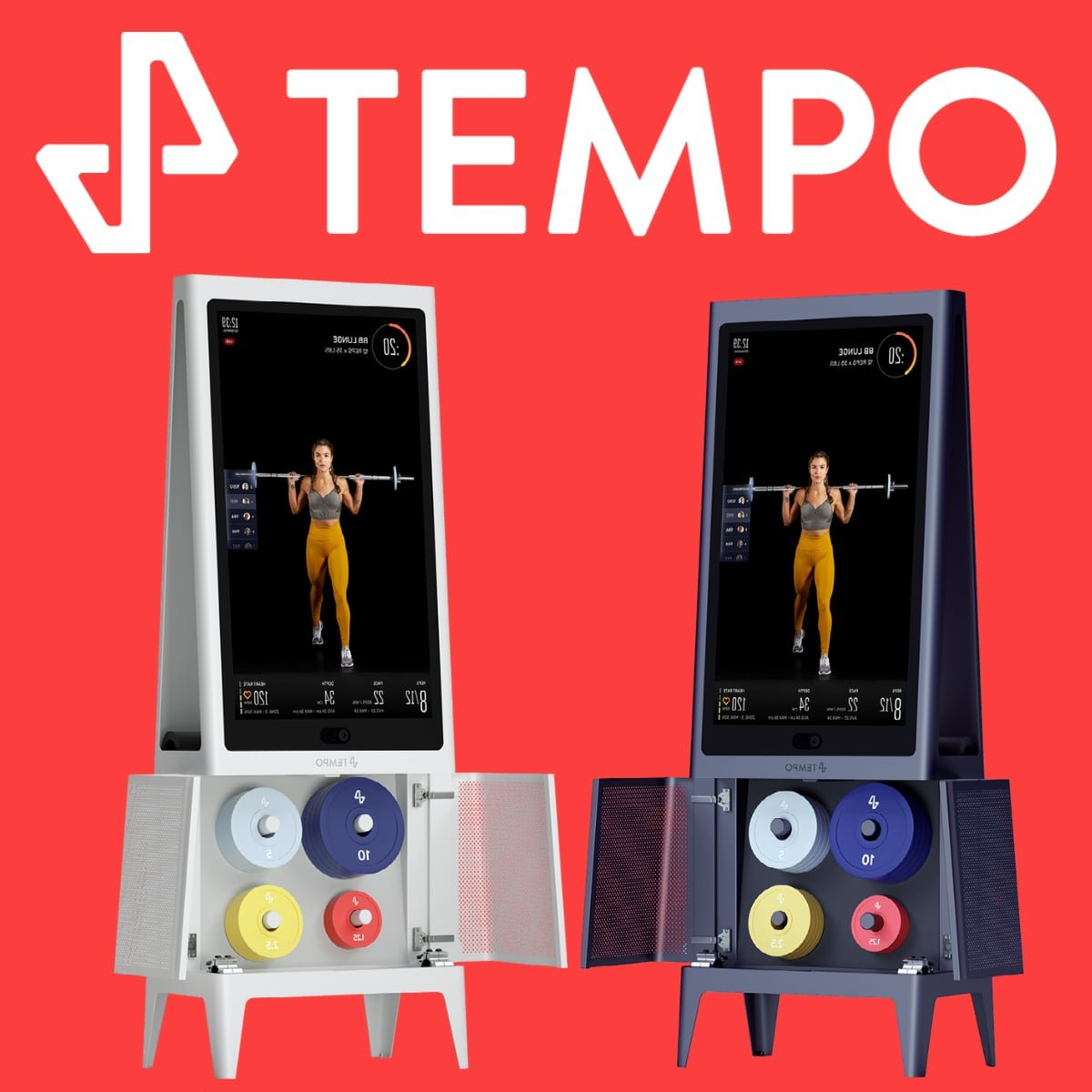 a look at the Tempo Studio (white and black machines) with a red background