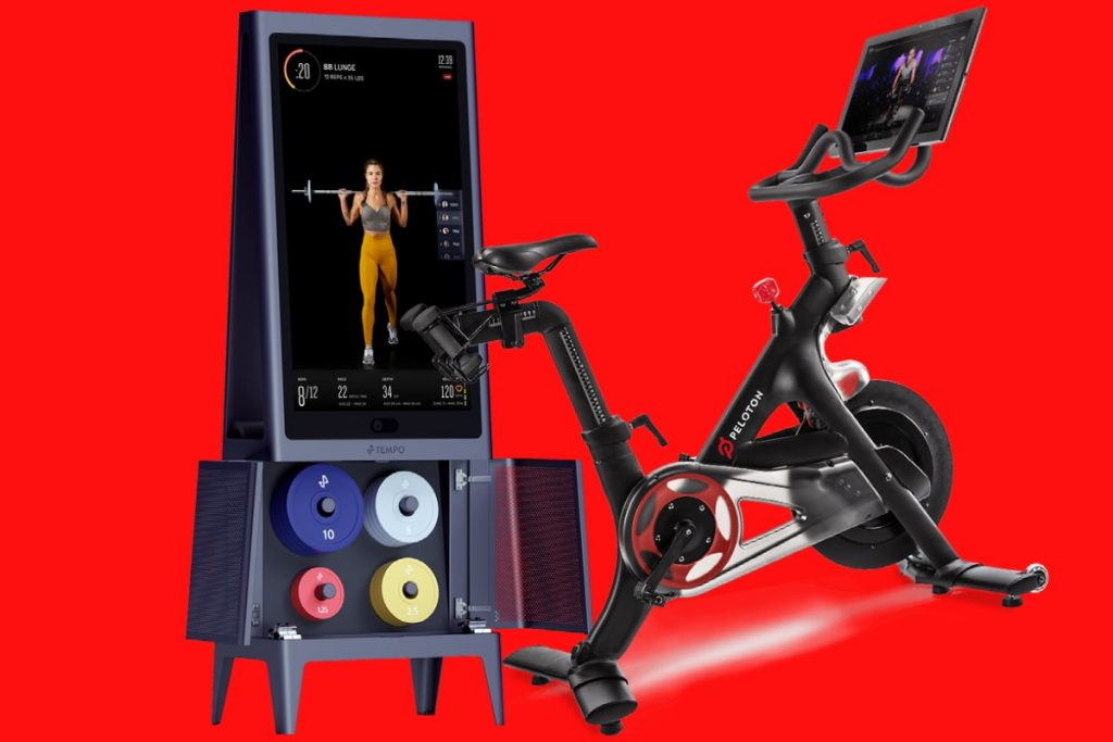 Tempo Studio (left) compared to Peloton (right) for the best workout winner
