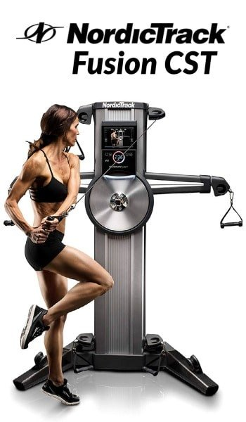 woman strength training with Fusion CST by NordicTrack