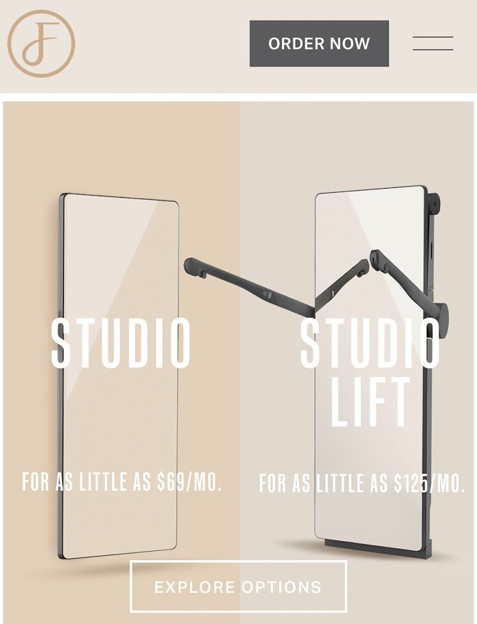 the studio and the studio lift - two options