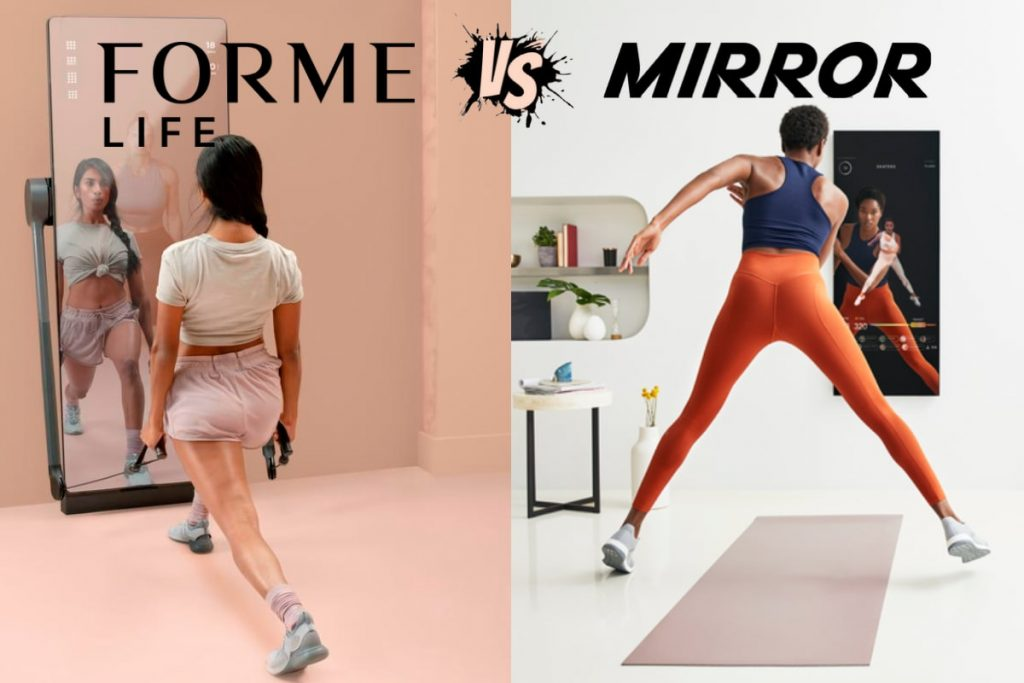 comparing forme life (left) and mirror gym (right)