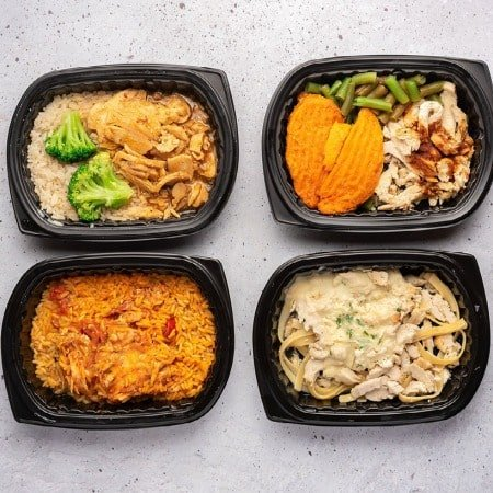 fully cooked meals on the table from flexpro meals