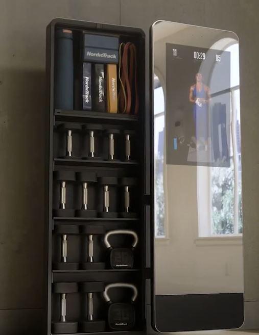 storage space behind the Vault's mirror