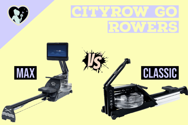 an image of both the cityrow go classic and max rowers - side by side comparison