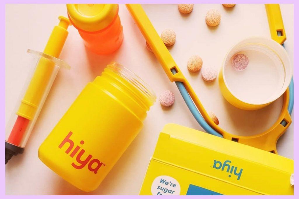 hiya health vitamins packaging bottle and box