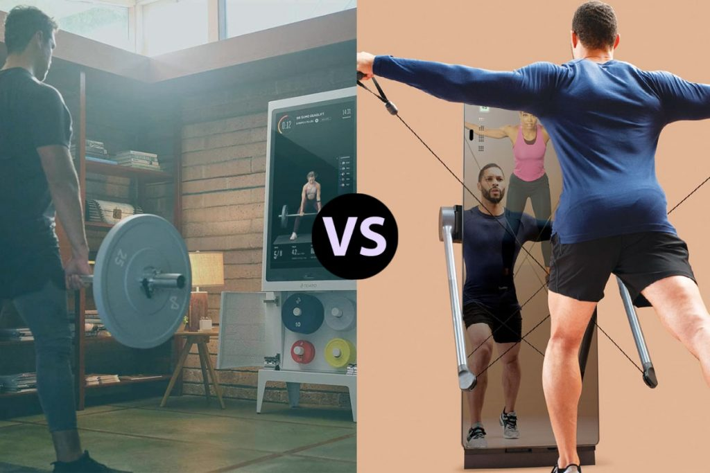 man working out with tempo versus man using forme life