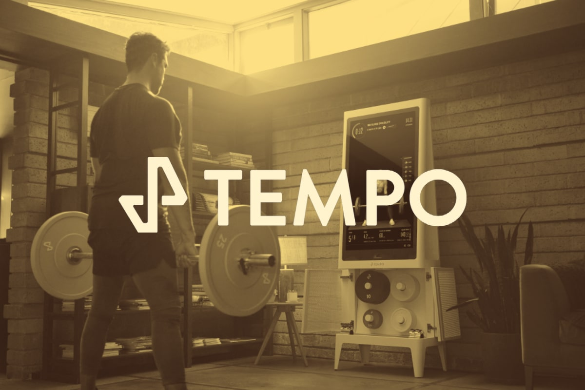 working out with tempo studio inside home