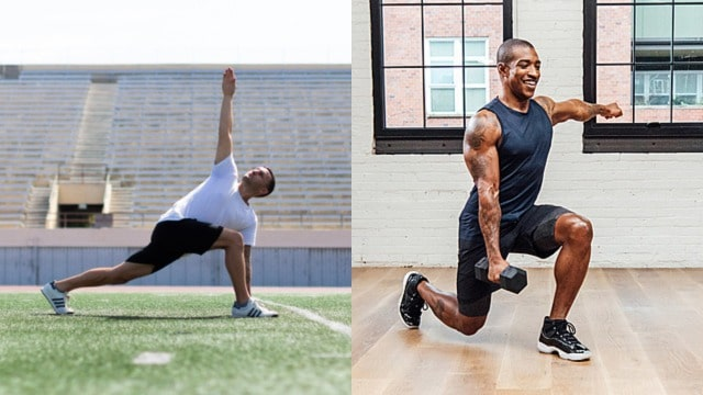 weight training and athletes yoga with Alo Moves