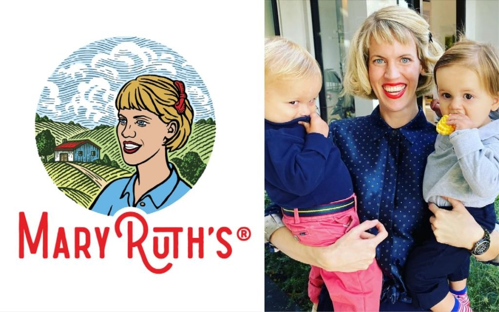 owner Mary of Mary Ruth's Organics and logo