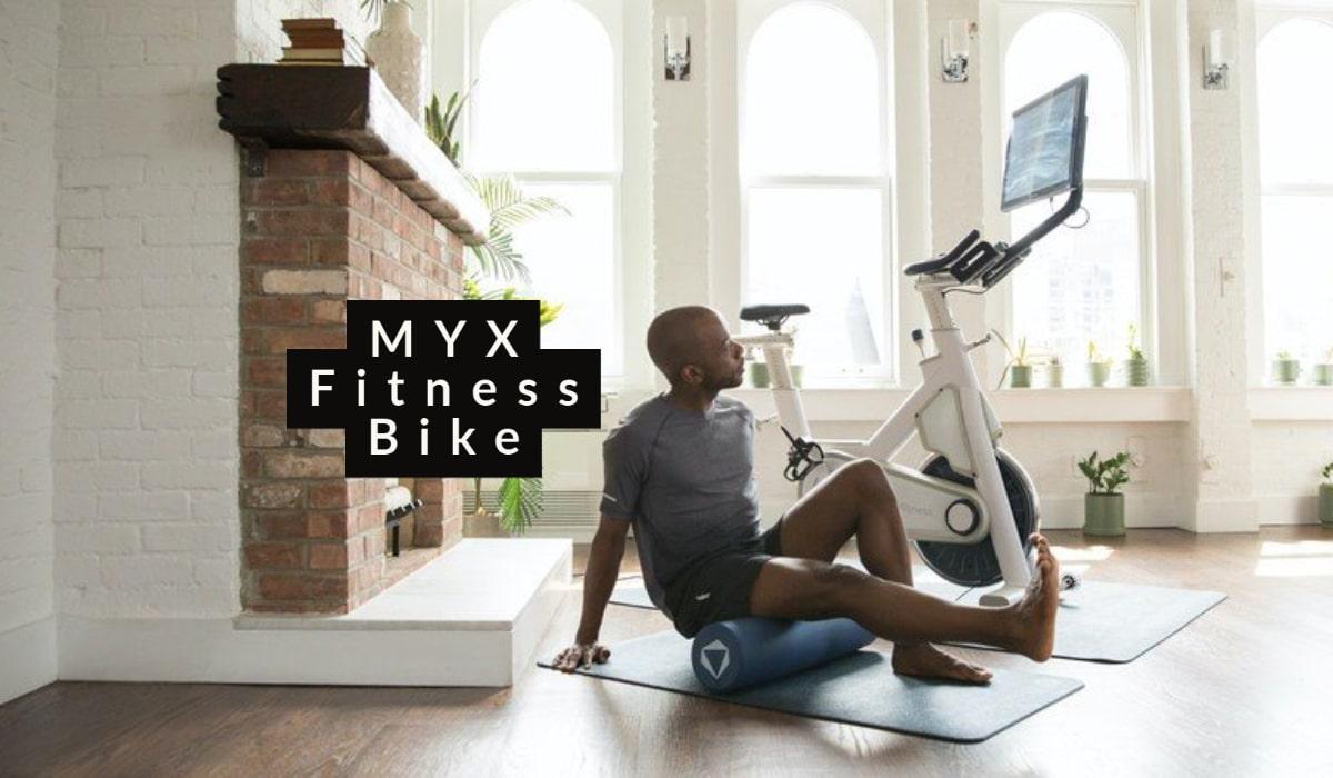 using foam roller with myx bike