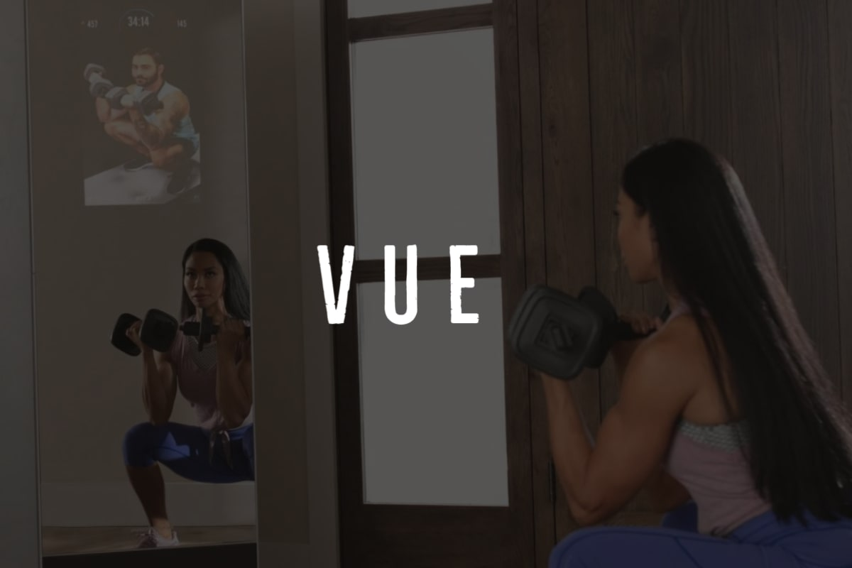 working out with proform vue mirror gym