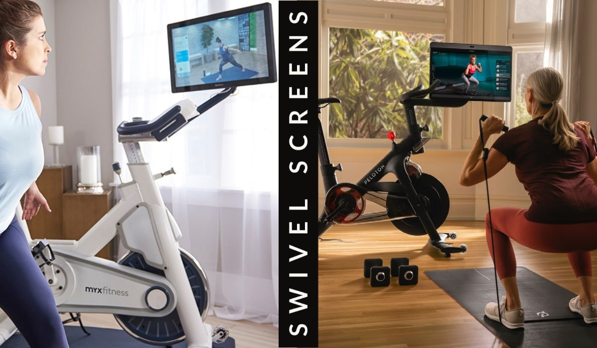 working out off the myx and peloton bikes