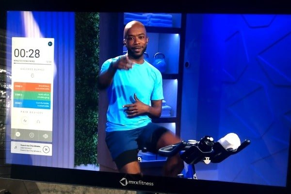 HD Touchscreen on the MYX Fitness Bike
