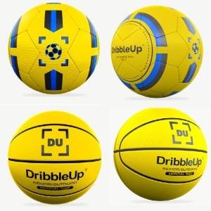 dribbleup basketball and soccer ball