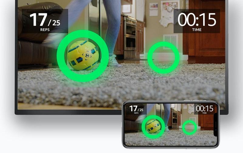 soccer ball with dribbleup app