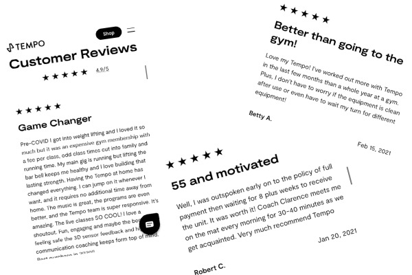 Three users reviewed the Tempo Home Gym