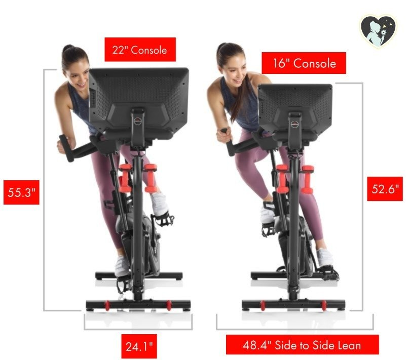 Bowflex velocore's 2 size packages and dimensions