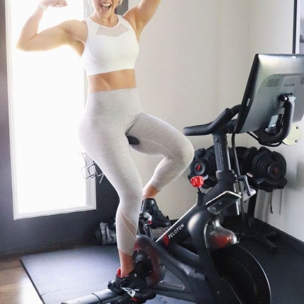 loving cycling with peloton