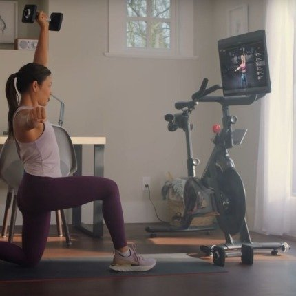 features and tech with Peloton bike