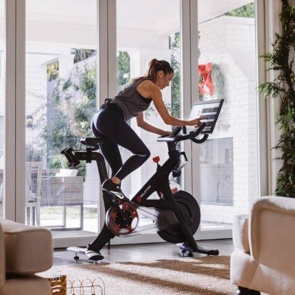 spinning at home with peloton