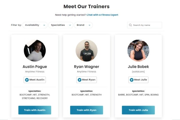 choose a coach on flexit fitness