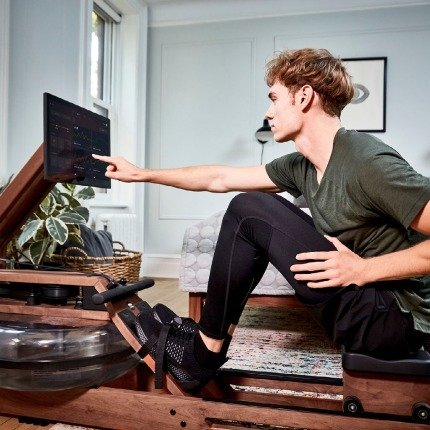 touchscreen tech with smart indoor rowers