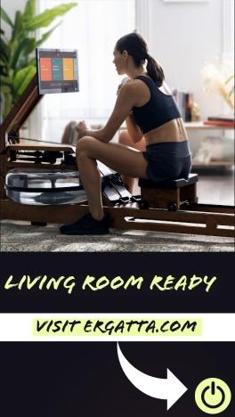 setup Ergatta's rower in your living room