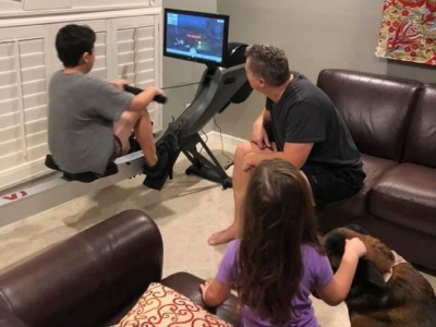 family friendly workouts with aviron rower