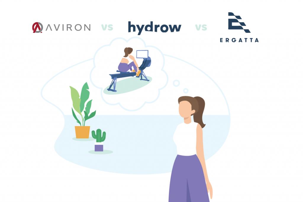 featured image: Aviron, Hydrow and Ergatta vs article