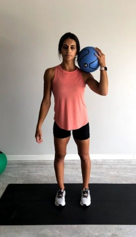 medicine ball lateral lunge 1