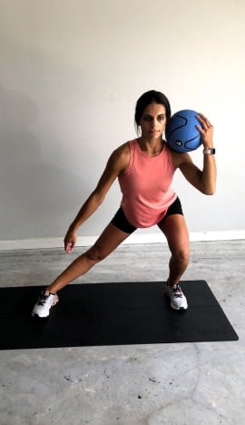 medicine ball lateral lunge 2