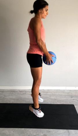 medicine ball jump squat lunge 2