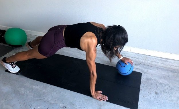 push up with med ball 1